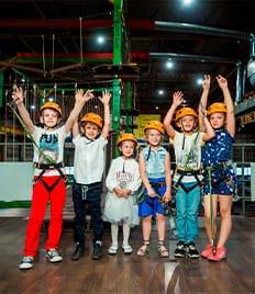 Уникальный крытый Веревочный парк - активный отдых для всей семьи в РЦ «SHIKANA», ждет со скидкой -50%!