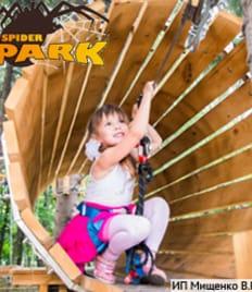 Яркие эмоции вместе с полезным опытом в верёвочном парке «Spider Park» (Спайдер парк) со скидкой 50% в парке им. Ульяновых!